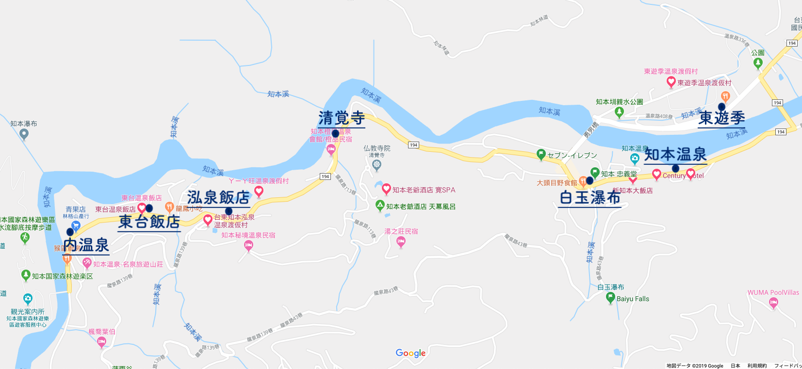 知本温泉地図
