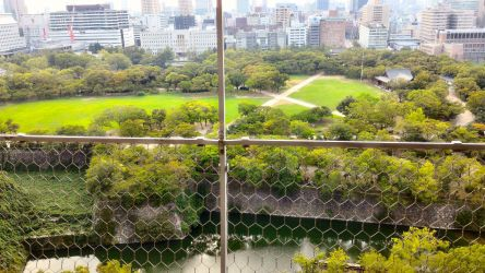 大阪城天守閣展望台からの風景