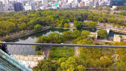 大阪城天守閣展望台からの風景5