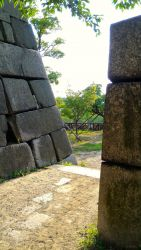 大阪城本丸北西側の隠し曲輪出入り口